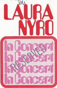 Laura Nyro BBC ticket