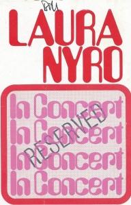 Laura Nyro BBC ticket