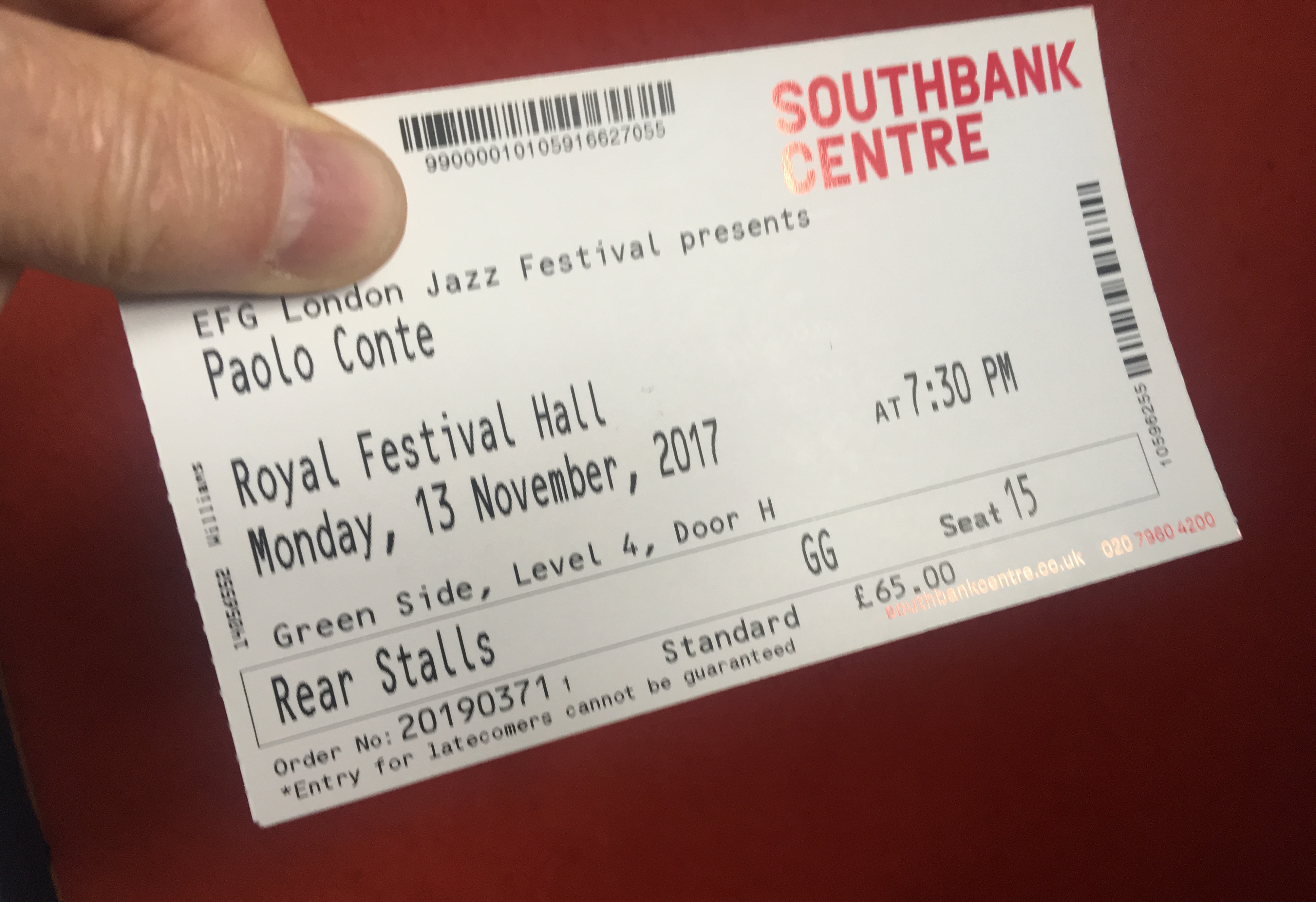 Paolo Conte ticket