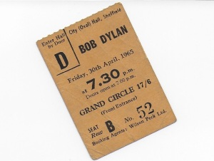 Bob Dylan 1965 ticket