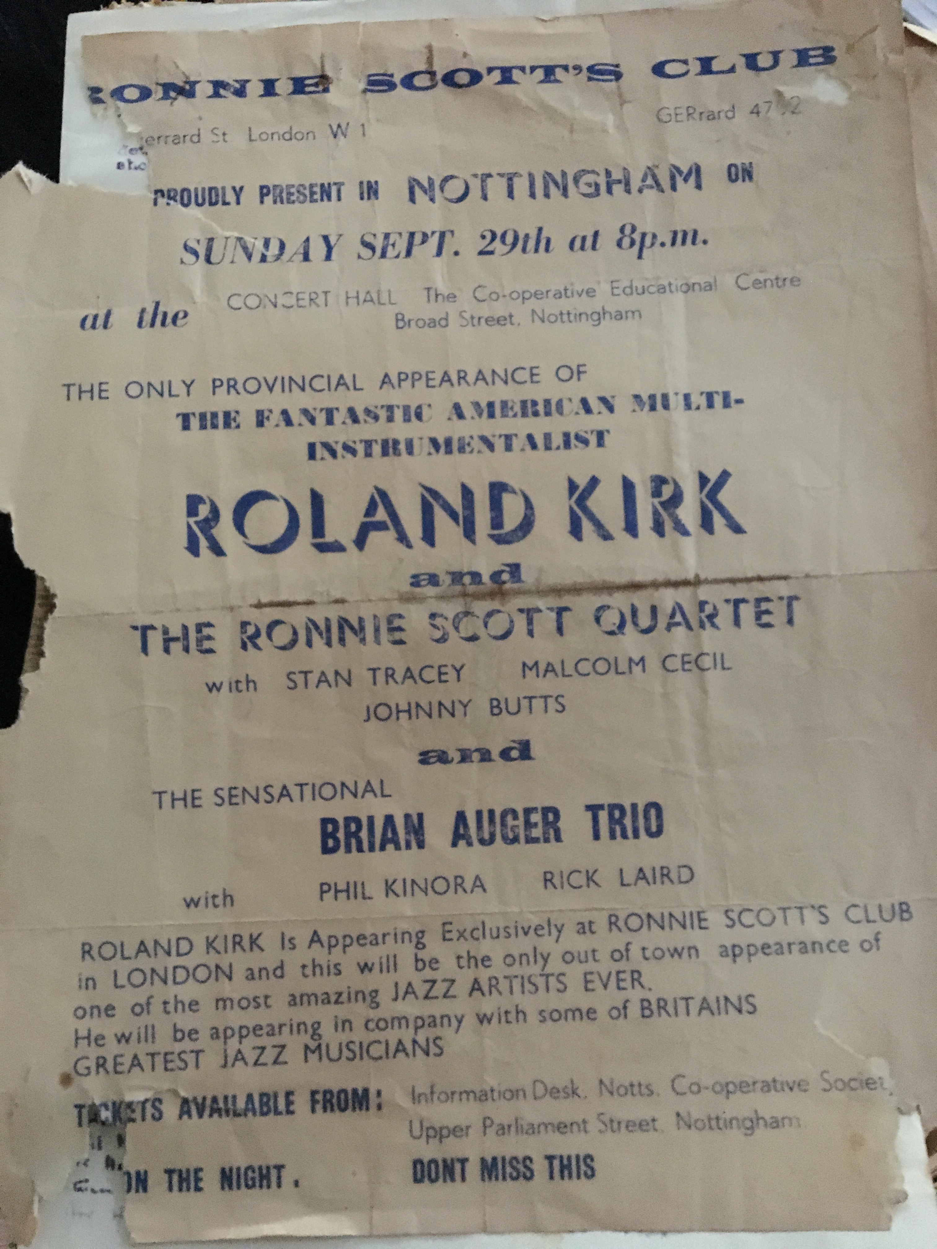 Roland Kirk poster